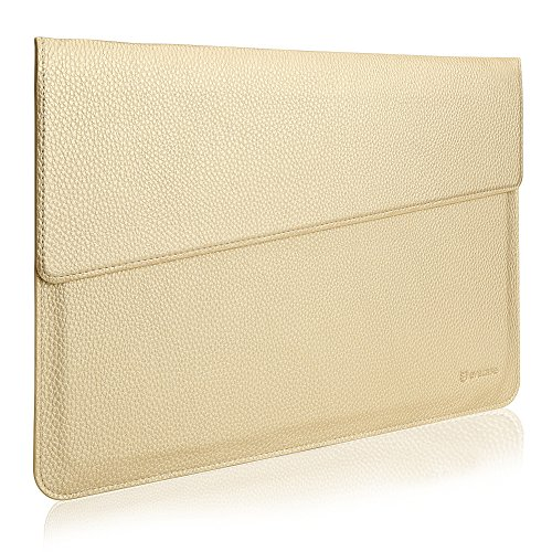 MacBook 13.3 Sleeve, Evecase Sottile in Pelle Premium Custodia Portatile per 13.3 pollici MacBook Air/MacBook Pro/Retina/iPad Pro - Oro