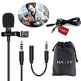 Micro Cravate pour Téléphone, Nakeey Microphone Lavalier Lapel Condensateur Tie Clip pour...