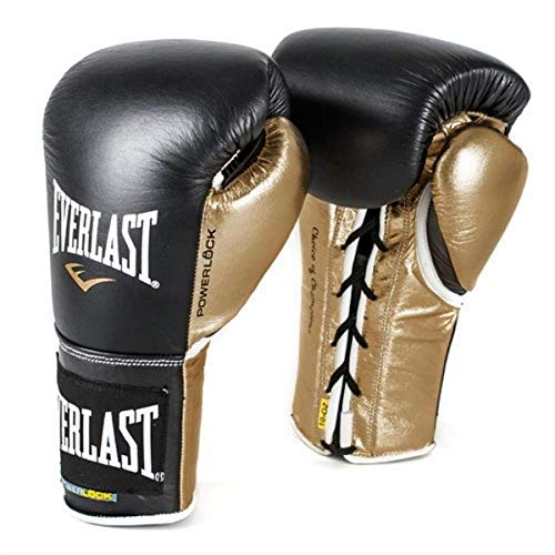Everlast PowerLock Pro Fight Gloves 10Ozlxl blk/Gld PowerLock Pro Fight Gloves