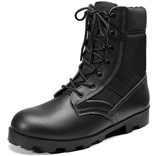 KaiFeng Mens Black Military Boots Tactical Boots Army Boots for Men Lightweight Jungle Boots(Black,US14)