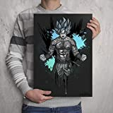 DRAGON BALL GOKU TATTOOED- Signed Colour Art Print - Poster by Professional Manga/Anime Artist with a love for Dbz, Super and tattoos