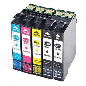 Teng® - Cartuchos de tinta Epson 29 29XL compatible con Epson XP-235 XP-245 XP-255 XP-247 XP-257 XP-335 XP-342 XP-345 XP-355 XP-432 XP-435 XP-442 XP-445 XP-452 XP-455-2 negro