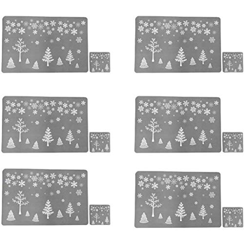 PVC Table Mat, Christmas Table Mat, Hotel Tableware Mat, Printed Table Mat, Home Decor, for New Year (SL)