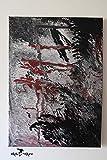Acryl Pouring Bild auf Leinwand'Fog', 50 x 70 cm *handgefertigtes Einzelstück