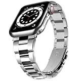 Correa de Reloj Compatible con Apple Watch SE 6/5/4/3/2/1, Correa de Metal para iWatch 38 mm/40 mm/42mm/44 mm, Repuesto para Apple Watch, Correa de Reloj para Hombre para Iwatch SE