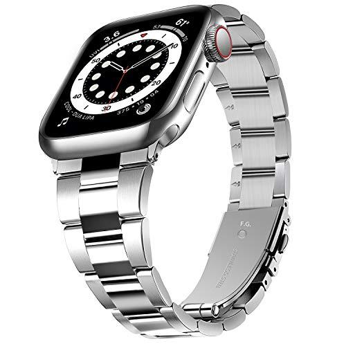 Correa de Reloj Compatible con Apple Watch SE 6/5/4/3/2/1, Correa de Metal para iWatch 38 mm/40 mm/42mm/44 mm, Repuesto para Apple Watch, Correa de Reloj para Hombre para Iwatch SE