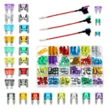 265PCS Car Blade Fuses Assortment - Automotive Fuses Kit with Fuse Tap, Standard Mini Low Profile Mini Fuse Assorted Auto Fuse for Truck SUV Fuse Replacement with Fuse Puller 2 5 10 15 20 25 30 35AMP