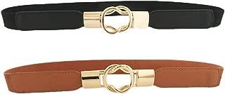 HaoPiDai Brand Waist Belts For Women Dress With Cinch Elastic Waistband Skinny Comfortable Retro Metal Buckle