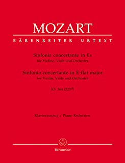 Sinfonia concertante in E-flat major K.364 (Violin, Viola & Piano)