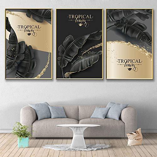 YFYW Pintura Moderna de la Pared del Arte del colorante del Chocolate Imagen de la Pared de la Pintura de la Lona para la decoración de la Sala de estar-50x70cmx3 PC sin Marco