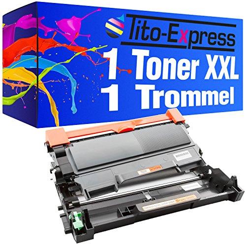 Tito-Express Platinum Serie 1 Toner & 1 Trommel XXL compatibel met Brother TN-2010 & DR-2220 HL-2130 HL-2132 HL-2135W DCP-7055 DCP-7055W DCP-7057 | Toner 3.000 pagina's Trommel 12.000 pagina's