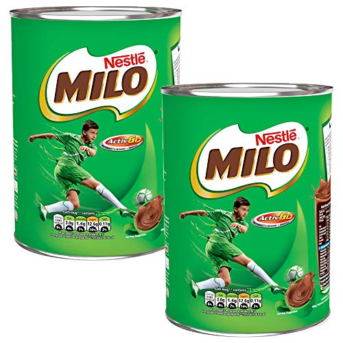 2 x 400g Milo Malt Skimmed Milk Chocolate Drink Vitamin Mineral Calcium
