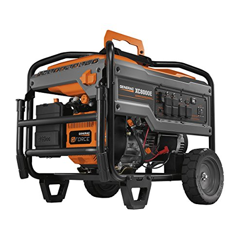 Generac 6827 XC8000E 8,000 Running Watts/10,000 Starting Watts Electric Start Gas Powered Portable Generator - CARB Compliant