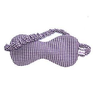 Art-Fabric Bio Schlafmaske Vichy Lavendel reine Baumwolle mit Duft nach Wahl