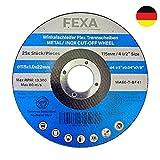 25x Premium Discos de corte - 115x1.0mm - Juego de discos flexibles INOX para metal, acero y acero inoxidable - Discos abrasivos Fexa de alto rendimiento