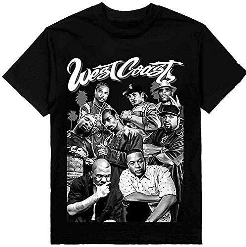 Tengyuntong UiikIIDl Camisetas y Tops Hombre Polos y Camisas MichaelWare Westcoast Gangsta Rap Mens Summer T-Shirts Crewneck Short Sleeve Top Tees