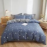 Aokali bettbezug 150*200 Baumwolle Kristall Samt Dicke blau Wärme bestickte Bettbezug Winter vierteilige Bettdecke Blatt Kissenbezug Geschenk
