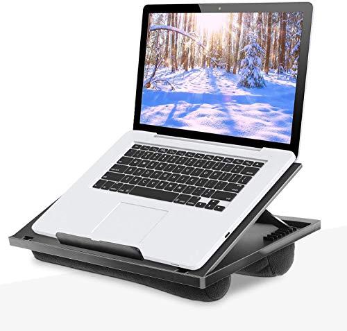 HUANUO Soporte para Computadora Portátil con Cojín Ajustable de Forma Flexible con 8 Ángulos, Soporta Computadora Portátil, Tableta de hasta 15,6' y Mesa de Bandeja Portátil