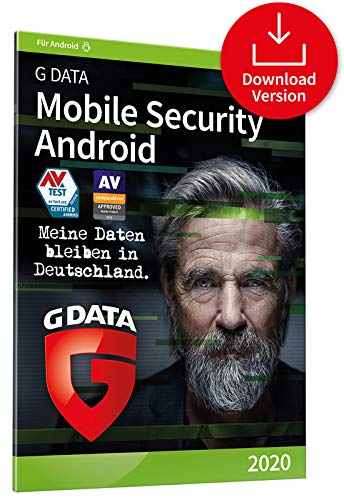 G DATA Mobile Security Android 2020 | 1 Gerät - 1 Jahr, Aktivierungscode per Email | Antivirus für Tablet / Smartphone | Made in Germany
