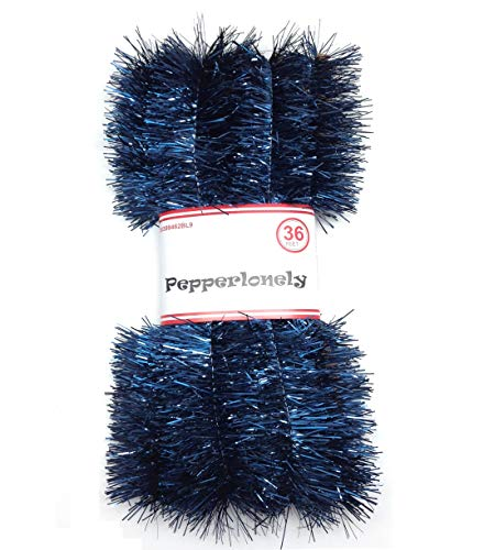 PEPPERLONELY 36 FT Christmas Tinsel Garland Classic Christmas Decorations, Dark Blue