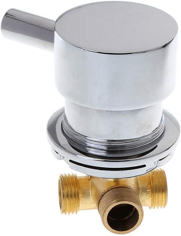 SimpleLife Válvula mezcladora de Agua fría y Caliente baño, Mezclador termostático G1 / 2