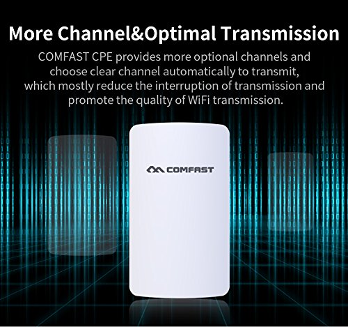 SSSabsir COMFAST Wireless Outdoor Wifi Repeater 300Mbps Access Point Wi-fi Antenna 11dBI Signal Booster Amplifier US plug
