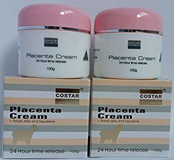 2 Costar Placenta Face Moisturizer Cream with Royal Jelly Lanoline Vitamin E 24Hr Release 2100g Made in Australia