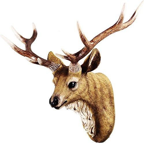 壁掛け 鹿 オブジェ 壁飾り アニマルヘッド インテリア 壁吊り下げライト鹿ヘッド 樹脂製 動物 おしゃれ ファション 工芸品 新築祝い 新築飾り