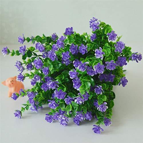 4 paquetes de flores artificiales Jardineras artificiales al aire libre Flores Plantas artificiales resistentes a los rayos UV para macetero colgante Decoración de ventana de porche de boda en casa