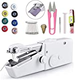 Handheld Sewing Machine, Mini Portable Sewing Machine with Extra Sewing Accessories Mini Electric Sewing Machine for DIY Clothes Crafts and Kids Cloth, Home, Travel