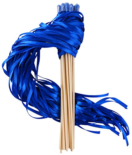 Wishprom Ribbon Wands Sticks Streamers for Wedding Party Favor (Royal Blue-30PCS)