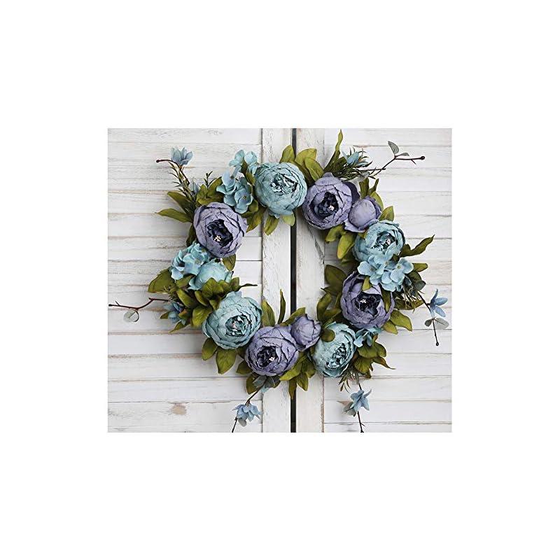 silk flower arrangements flonding artificial wreath summer wreaths decorative fake flower wreath for front door wall window wedding home decoration