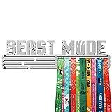 United Medals Beast Mode Medalla Percha   Acero Cepillado (43cm / 48 Medallas) Soporte para Medallas Deportivas
