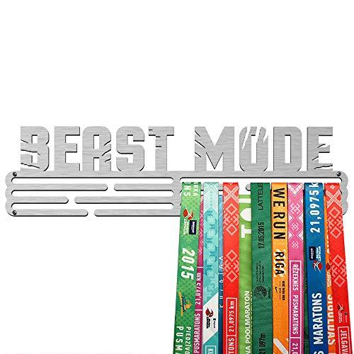 United Medals Beast Mode Medalla Percha   Acero Cepillado (43cm   48 Medallas) Soporte para Medallas Deportivas