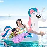 LYzpf Flotador Inflable Adorable Unicornio Gigante Colchoneta Hinchable para Playa de Verano Piscina Juguete Agua Fiesta Natación para Adultos y Niños