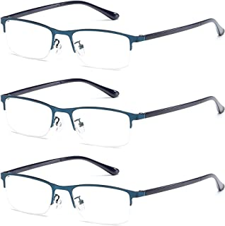 Inlefen Unisex Comfortable Reading glasses 3 Pack Lens Classic Read Glasses