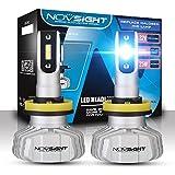 NOVSIGHT H11(H8 H9) Faros Delanteros Bombillas LED 50 W 10000LM 6500K Super Brillante Lámpara...
