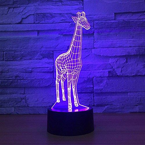 Giraffe Lighting Decor nachtlampje slaapkamer tafellamp 7 kleuren bedlampje kerst- en verjaardagscadeau voor kinderen LED nachtlampje met afstandsbediening