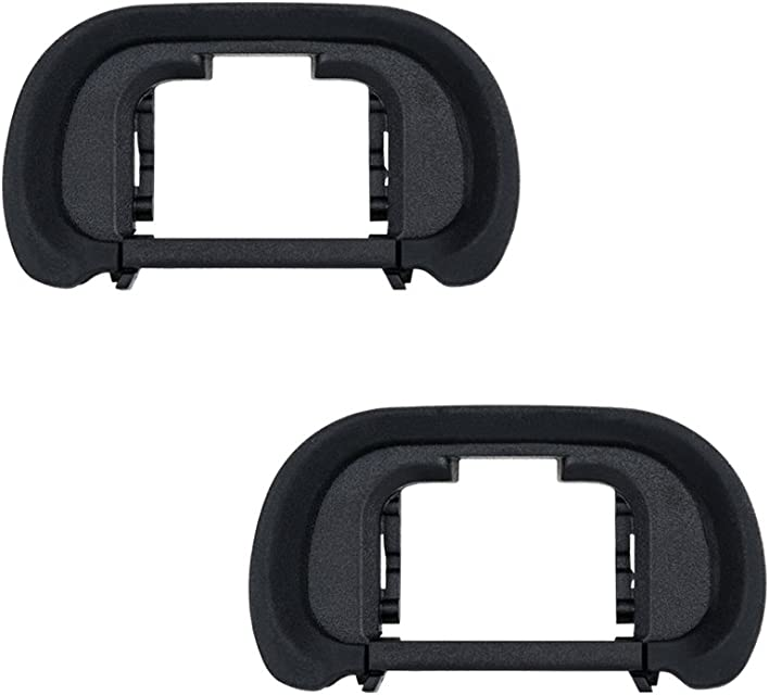 JJC Visor Ocular Eyecup para Sony Alpha A7 A7II A7III A7R A7RII A7RIII A7RIV A7S A7SII A9 A9II A58 A99II Reemplazo de Sony FDA-EP18 (Lote de 2)