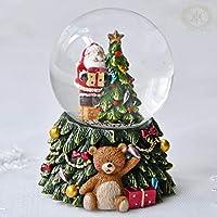 ベアツリーサンタミニスノードーム/レフトサンタ 2020クリスマス雑貨 プレゼント おしゃれ