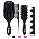 Best Hairbrush For Men - 4Pcs Paddle Hair Brush, Detangling Brush and Hair Review