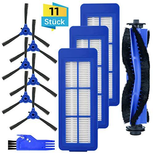 FHzytg 11 Stück Ersatzteile Filter Bürsten Zubehör Set für eufy BoostIQ RoboVac 11S MAX, eufy BoostIQ RoboVac 15C MAX, eufy BoostIQ RoboVac 30C MAX