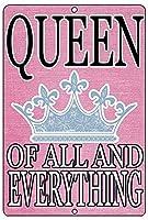 すべての女王の壁の金属のポスターレトロなプラークの警告ブリキのサインヴィンテージ鉄の絵画の装飾オフィスの寝室のリビングルームクラブのための面白い吊り工芸品
