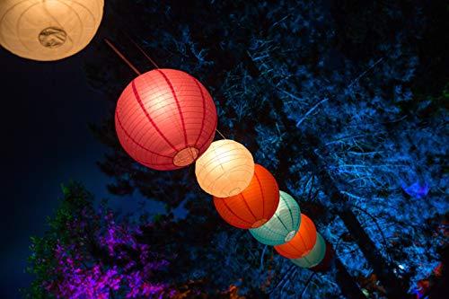 ISOTRONIC Solar Lichterkette 30 bunte Lampions LED Partybeleuchtung für Garten, Haus
