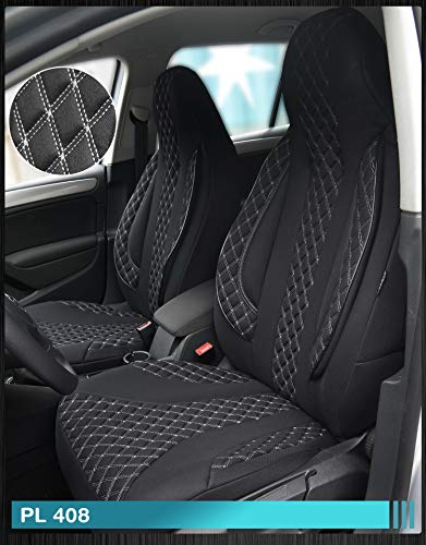 Maß Sitzbezüge kompatibel mit Opel Mokka X Fahrer & Beifahrer ab BJ 2016-2018 Farbnummer: PL408