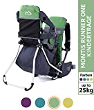 MONTIS Runner One - Mochila portabebés - hasta 25 kg (Verde)