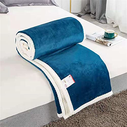 TAIZONG Manta de verano para siestas, tamaño grande, ideal para primavera, verano, otoño e invierno, color azul