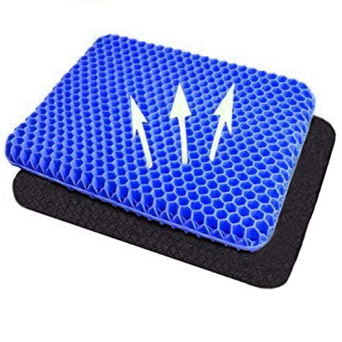2021The Newest Breathable Double Thick Office Chair Cushion Used to Relieve Back Pain and Reduce Hip Pressure Suitable for Chairs Cars Truck,Office, wheelchairs Travel Navy Blue
