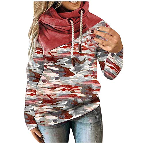 Halloween Sweatshirts Womens Tunic Tops Sweaters Pullover Sleeveless Blouses for Women Cardigan Girls Trench Coat Mens Bomber Jacket Hoodie(D-Red,2XL)