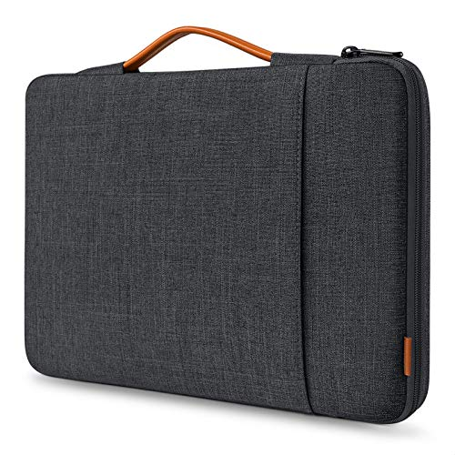 Inateck Laptop Case Sleeve 15-16 Inch Compatible with MacBook Pro 16 Inch 2019/MacBook Pro 15 Inch 2013-2015/MacBook Pro 15 2016-2019/Surface Book 2/Surface Laptop 3/14 Inch Laptops - Black gray